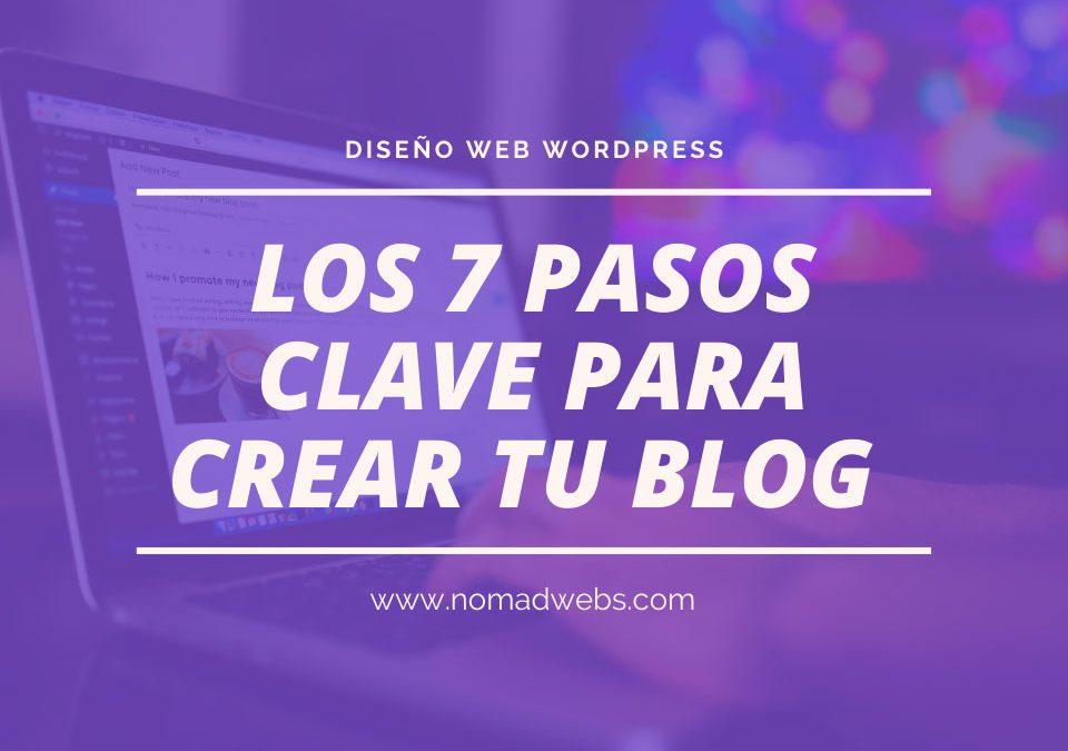 Los 7 pasos clave para crear tu blog de éxito