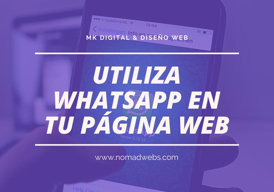 Añade un botón WhatsApp a tu web y genera confianza en tus lectores