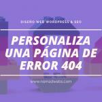 personalizar página de error 404 con divi