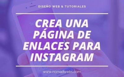 Cómo crear una página personalizada para el link en la bio de Instagram